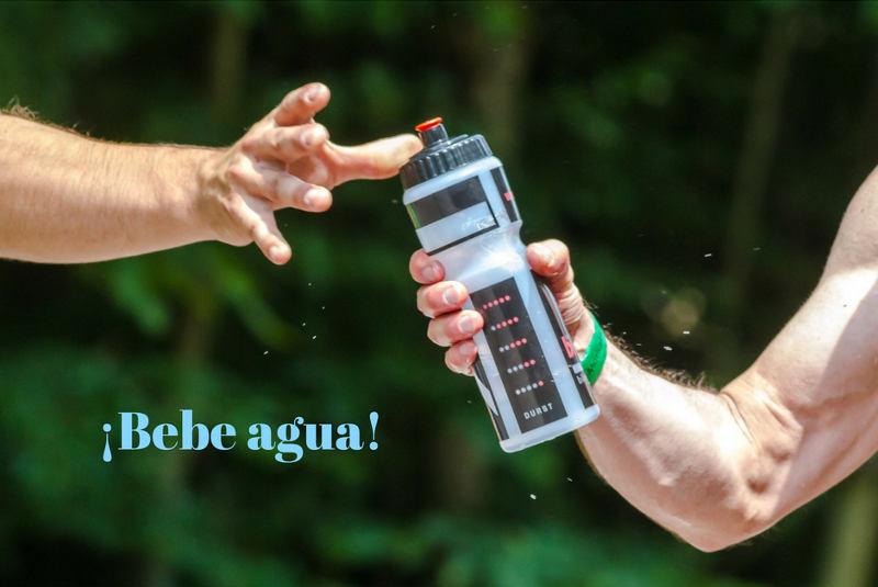 deporte y salud bucal agua