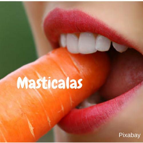 alimentos y dientes,zanahorias