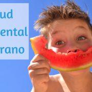 la salud bucodental infantil en verano